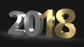 happy-new-year-d-render-golden-graphic-78287861