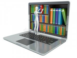 d-white-people-new-technologies-digital-library-concept-laptop-50070411