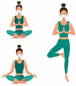 girls-set-medical-mask-do-yoga